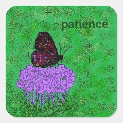 pegatina de la paciencia