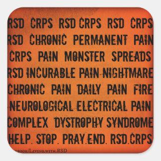 Pegatina de la palabra de RSD CRPS