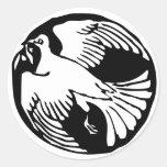 Pegatina de la paloma de la paz de la rama de