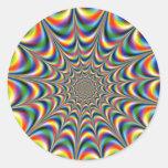 PEGATINA de la palpitar-fractal-óptico-ilusión