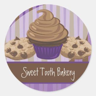 Pegatina de la panadería del gusto por lo dulce