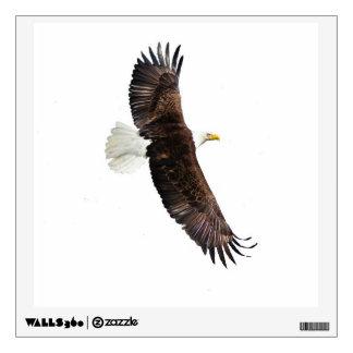 Pegatina de la pared del águila calva vinilo