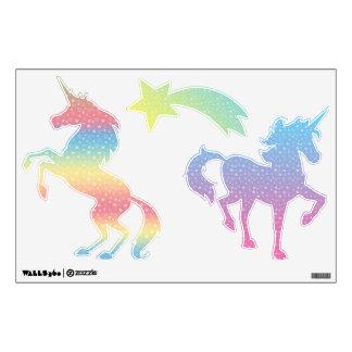 Pegatina de la pared del unicornio de la estrella vinilo
