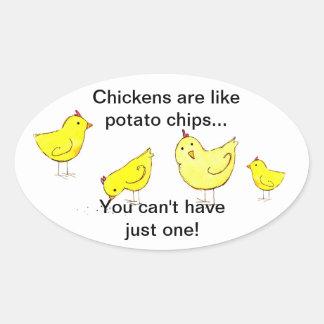 Pegatina de la patata frita del pollo