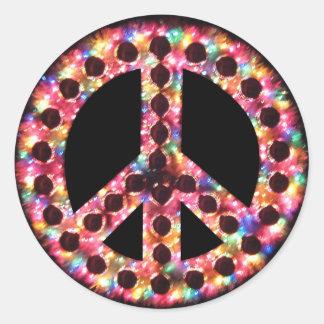 pegatina de la paz de 5 colores