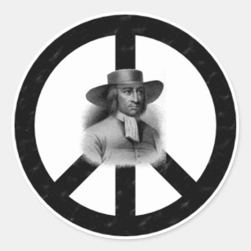 Pegatina de la paz de George Fox