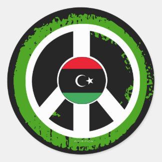Pegatina de la paz de Libia