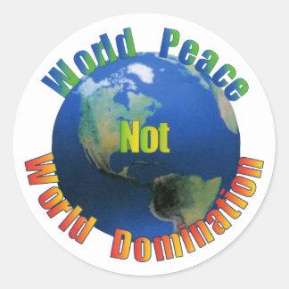 Pegatina de la paz de mundo