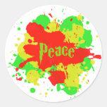 Pegatina de la paz de Rasta
