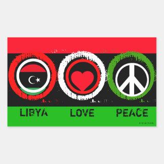 Pegatina de la paz del amor de Libia