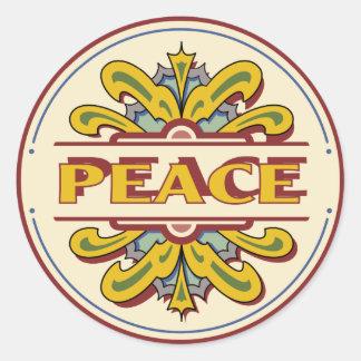 Pegatina de la paz del diseño de los años 60 del