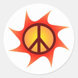 Pegatina de la paz y de la luz