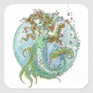 Pegatina de la perla de la sirena