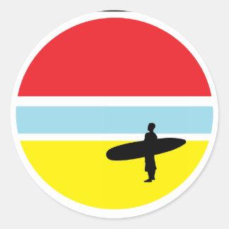 Pegatina de la persona que practica surf de la