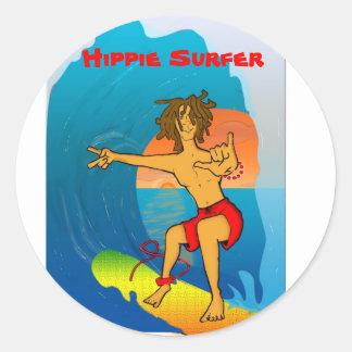 Pegatina de la persona que practica surf del