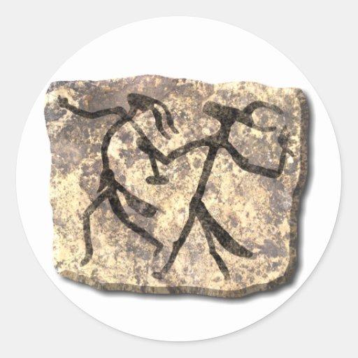 Pegatina de la piedra de la danza de los magos