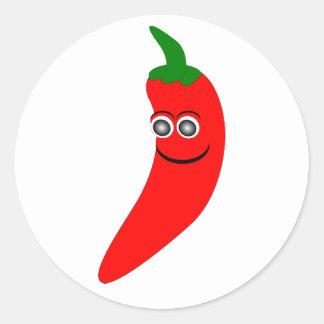 Pegatina de la pimienta de chile rojo