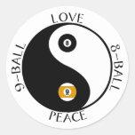 Pegatina de la piscina de la paz del amor