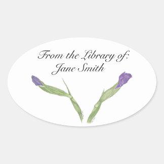 Pegatina de la placa de libro del iris japonés