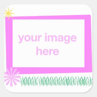 Pegatina de la plantilla del marco de la foto