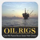 Pegatina de la plataforma petrolera, aceite y pega