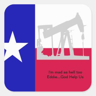 Pegatina de la plataforma petrolera de Tejas