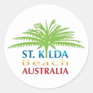 Pegatina de la playa de St.kilda intrépido