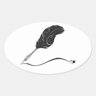 Pegatina de la pluma de canilla