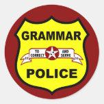 Pegatina de la policía de la gramática