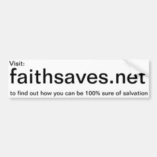 pegatina de la promoción de Faithsaves net Etiqueta De Parachoque