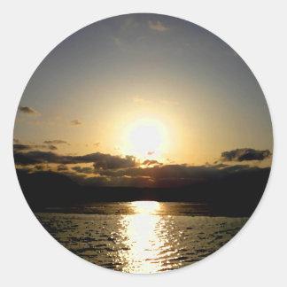 Pegatina de la puesta del sol