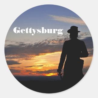 Pegatina de la puesta del sol de Gettysburg