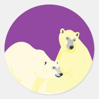 Pegatina de la púrpura del alma del invierno