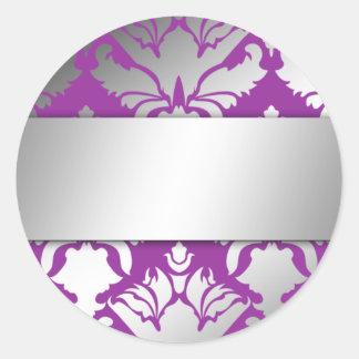 pegatina de la púrpura del reflejo 311-Damask