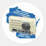 Pegatina de la radio pública de Wisconsin