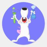 Pegatina de la rata del laboratorio del tubo de en