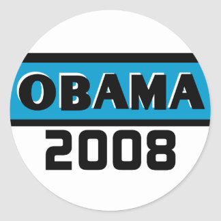 Pegatina de la raya azul de Obama 2008