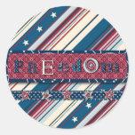 Pegatina de la raya de la libertad