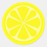 Pegatina de la rebanada del limón