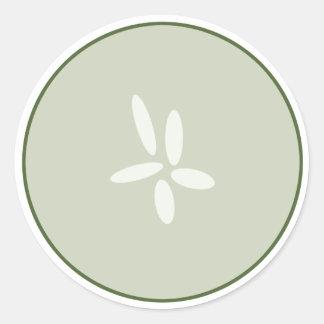 Pegatina de la rebanada del pepino
