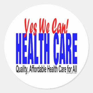 Pegatina de la reforma de la atención sanitaria