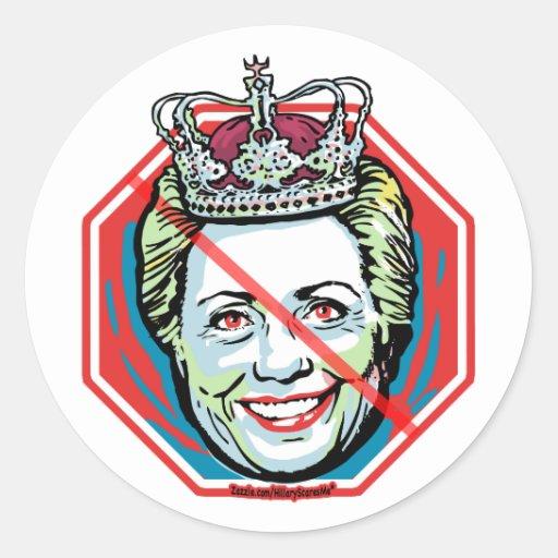 Pegatina de la reina Anti-Hillary del hielo de