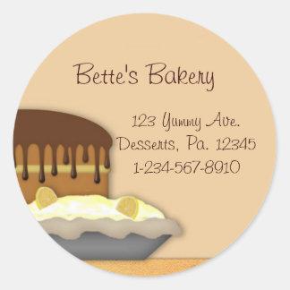 Pegatina de la repostería y pastelería