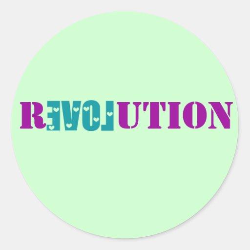 Pegatina de la revolución del amor