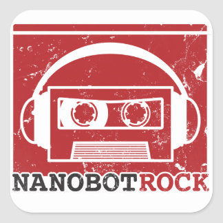 Pegatina de la roca de Nanobot