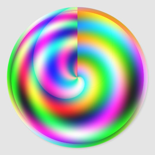 Pegatina de la rueda de color