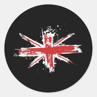 Pegatina de la salpicadura de Union Jack