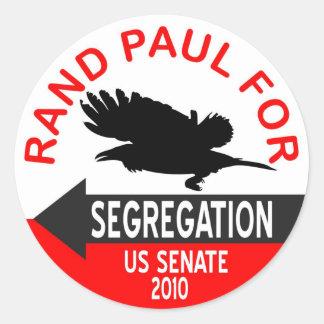 Pegatina de la segregación