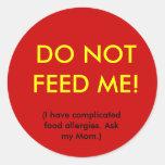 Pegatina de la seguridad de la alergia del niño