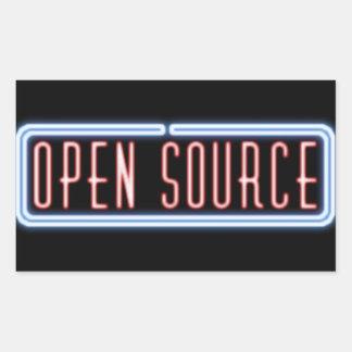 Pegatina de la señal de neón de Open Source
